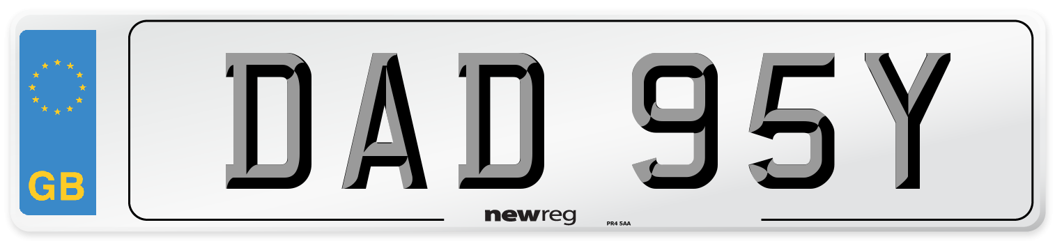 DAD 95Y Number Plate from New Reg